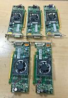 Lot of 5 AMD HD7450 BD3A75 Graphics Card 1GB Display-Port/DVI low profile