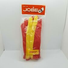 New listing Vintage Jobe Large Yellow Red Competition Water Ski Gloves Hook Loop Closure Nip
