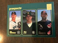 2001 Topps Ryan Anderson Mariners Barry Zito A's C.C. Sabathia Indians 363