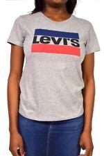 Levi's Logo Perfect T-Shirt Graphic Sportswear Grey New Size S/M/L