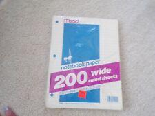 Vtg 1980's Mead Notebook Paper