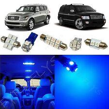 11x Blue LED light interior package 2011-2014 Infiniti Qx56 IQ1B