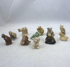Mixed Lot of 11 Wade Whimsies Miniature Porcelain Figurines Made in England
