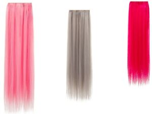 ONE PIECE SYNTHETIC HAIR STRAIGHT CLIP IN EXTENSION HALLOWEEN BRIGHT COLORS-K001