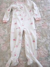 Carter's White Fleece Sleeper with Princesses ~ Size 3T