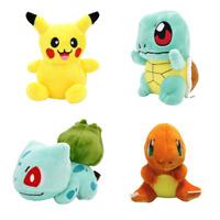 NEW 4PCS Set Pokemon Plush Toys Pikachu Bulbasaur Squirtle Charmander Soft