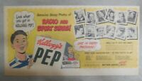 Kellogg's Cereal Ad: Radio and Sport Star Photos From 1948 Size: 7.5 x 15 inches