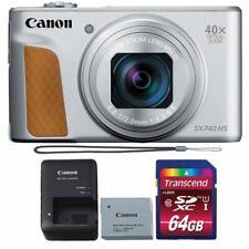 Canon PowerShot SX740 HS Digital Camera (Silver) + 64GB SDHC Memory Card