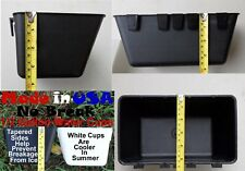 Cage Cups (6pk) Black 1/2 Gallon Large Hanging Water Cage Cups Chicken Pheasant
