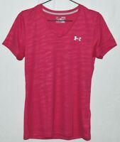 Under Armour Womens Medium Heat Gear Pink Camo Running Athletic T Shirt