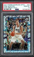 2017 Panini Donruss Optic #34 DIRK NOWITZKI Fast Break Holo PSA 10 GEM MINT