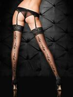 Ann Summers Womens All Yours Stocking Glossy Black Sexy Hold Up Tights Hosiery