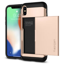 Spigen® Apple iPhone X [Slim Armor CS] Card Slot Shockproof Wallet Case Cover