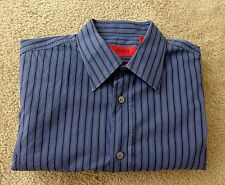 HUGO BOSS Red Label Slim Fit Men's Dress Casual Shirt Blue Striped S