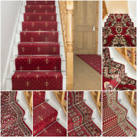 runrug Stair Runner Carpet for Stairs - Long Wide Runners for Staircase - Red