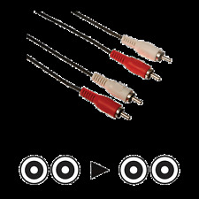 1 Câble 2 RCA Mâle vers 2 RCA Mâle Fiches Surmoulées repérées Long 10 Métres