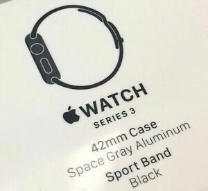 Brand New Sealed Apple Watch Series 3 42mm SpaceGray Sport Band Black