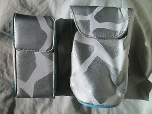 Cell Phone Mini Purse & Sunglasses Bag NEW Silver Giraffe Print Kristine Brand