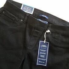 Womens Jeans Skinny Leg Pull On Tummy Slimming Control Sz 10P Black D7