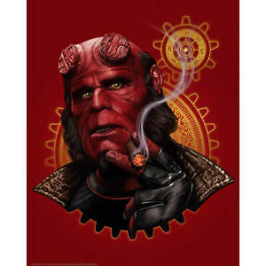 Hellboy Smoking Sam Gilbey Limited Edition Fine Art Giclee Numbered Print Poster