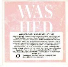 (EL206) Washed Out, Amor Fati - 2011 DJ CD