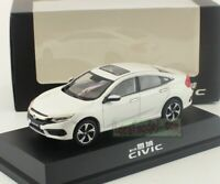 1:43 Scale Honda Civic 10th Generation White Diecast Car Model