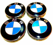 BMW Wheel Centre Caps 4 x 68 mm Badges Fits  E34 E36 E39 E46 E60 F11 F70