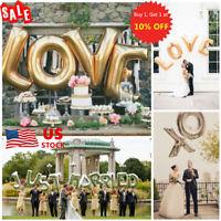 US 16'' 40'' Alphabet Letter Foil Helium Large Balloon Wedding Birthday Party