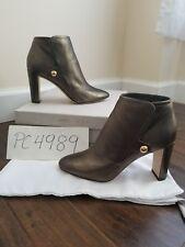 NWT Jimmy Choo MEDAL 85 metallic ankle boots heels Size 38.5 US 8 8.5 receipt