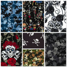 ROSE & HUBBLE 100% COTTON POPLIN FABRIC HALLOWEEN SKELETONS SKULLS COSTUME