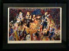 "Ronnie Wood ""B Stage"" Screen Print Hand Signed Art with Custom black frame COA"