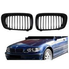 Facelift Matte Black Front Kidney Grille Grill For BMW 02-05 E46 4 Door Sedan US