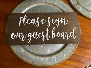 Wooden Rustic Wedding Signs