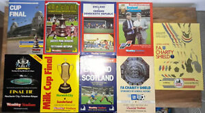 FA & League Cup Finals/Internationals/Charity Shield Match Programmes Joblot