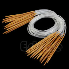 "18Pairs 18sizes 32"" 80cm New Circular Bamboo Carbonized Knitting Needles"