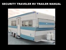 SECURITY TRAVELER CAMPER TRAILER MANUALs 255pg w/ RV Appliance Service & Repair