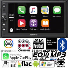 Sony Double Din MultiMedia Player Radio Bluetooth USB Android Auto Apple Carplay