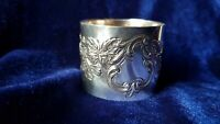 Antique French Sterling silver  napkin ring MINERVA 38 g