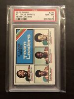 1975 Topps Basketball #283 St. Louis Spirits Team Leaders Marvin Barnes PSA 8