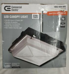 150-Watt Equivalent Integrated LED Outdoor Security Light, 2200 Lumens, Canopy