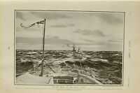 1903 PRINT IN THE WAKE OF ROYAL YACHT ON BOARD THE VICTORIA & ALBERT