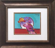 """Peter Max """"Umbrella Man"""" NEW CUSTOM FRAMED Print Art psychedelic I.O.A.E Series"""