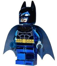 **NEW** LEGO Custom Printed CHROME BLUE BATMAN - DC Universe - Minifigure