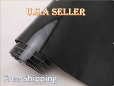 "Gloss Black Car ROOF Wrap Vinyl BUBBLE FREE with AIR DRAIN Sheet 24"" X 60"" In."