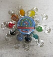 10 pack Glass Mushroom Pendant Medium Size Pick your color 1 inch tall