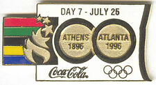 1996 ATLANTA OLYMPIC COCA COLA DAY PIN 7 FOR BOTTLE PUZZLE SET ATHENS-ATLANTA