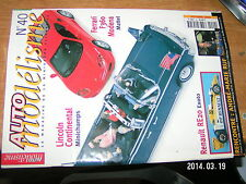 Auto Modelisme n°40 Renault RE 20 RUF Ferrari F360 Modena Lincoln Continental
