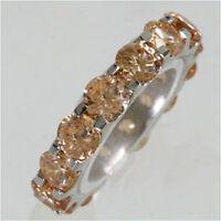 925 ECHT SILBER RHODINIERT *** Zirkonia champagner braun Ring Memoryring Gr. 50