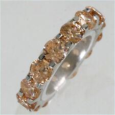 925 ECHT SILBER RHODINIERT *** Zirkonia champagner Ring Memoryring Gr. 50 (16)