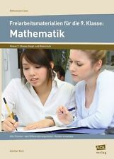 Freiarbeitsmaterialien f. d. 9. Klasse: Mathematik: Alle Themen - zwei Differenz